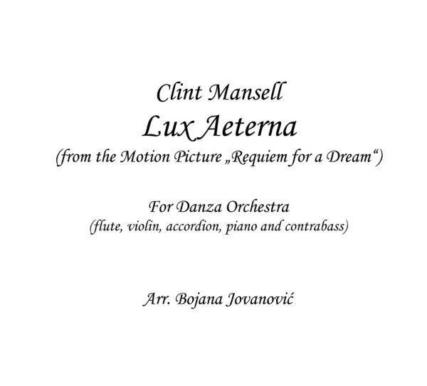 Lux Aeterna (Requiem for a dream) - Sheet Music