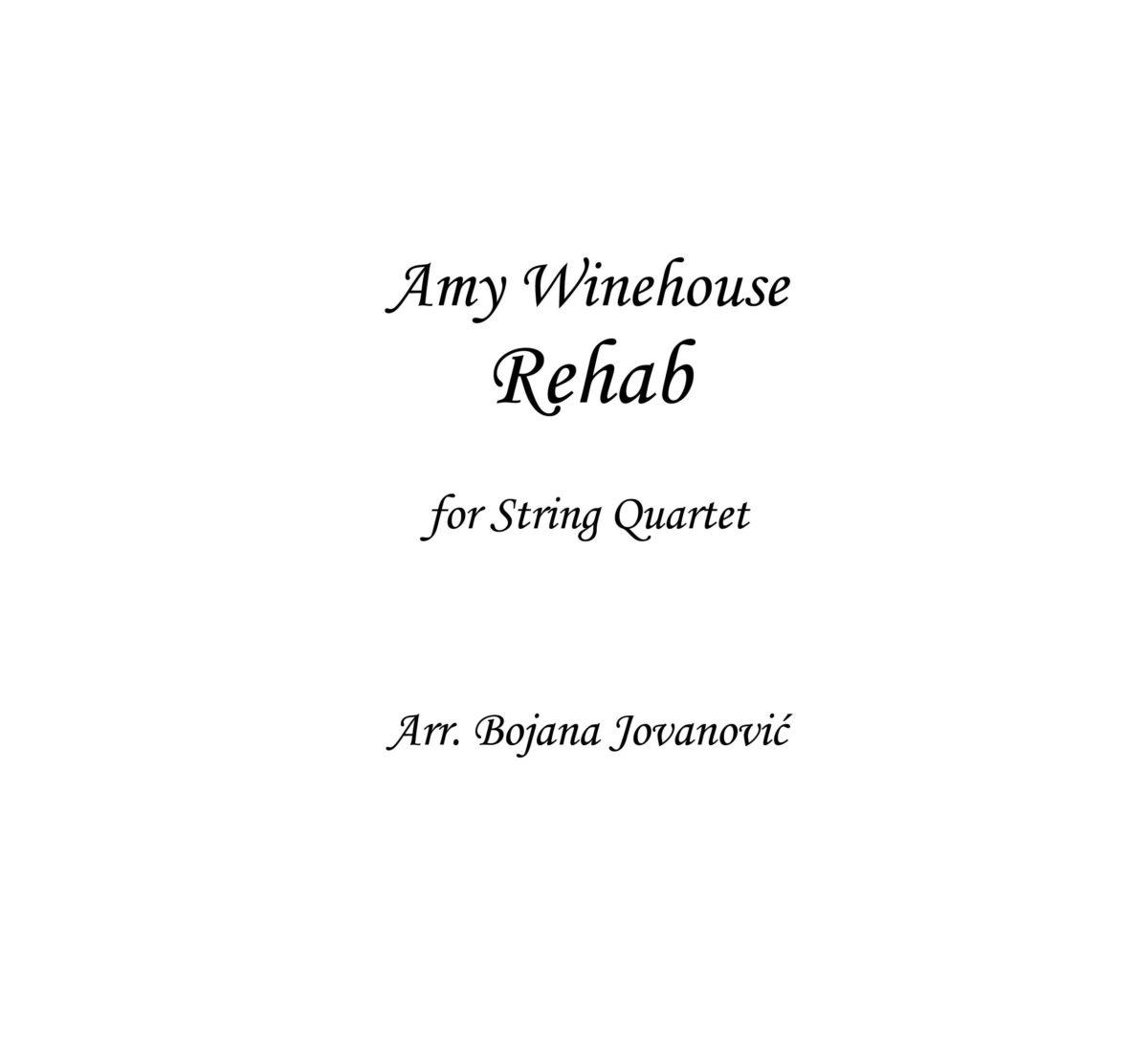 Rehab (Amy Winehouse) - Sheet Music