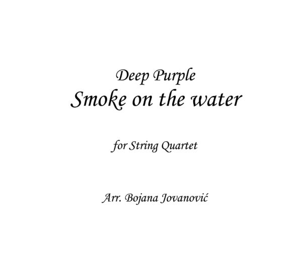 Smoke on the water (Deep Purple) - Sheet Music