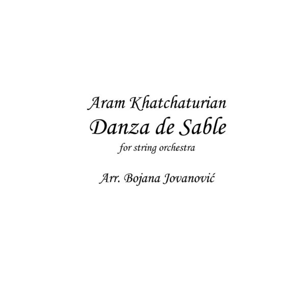 Danza de Sable (A Khatchaturian) - Sheet Music