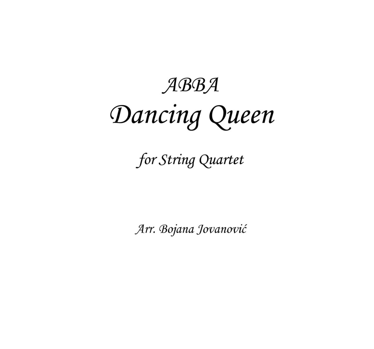 Dancing Quenn (ABBA) - Sheet Music