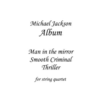 Album Tribute to Michael Jackson - Sheet Music