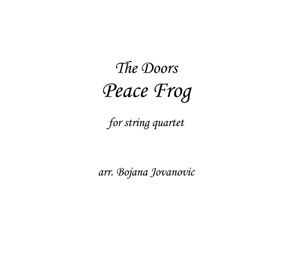 Peace Frog (The Doors) - Sheet Music