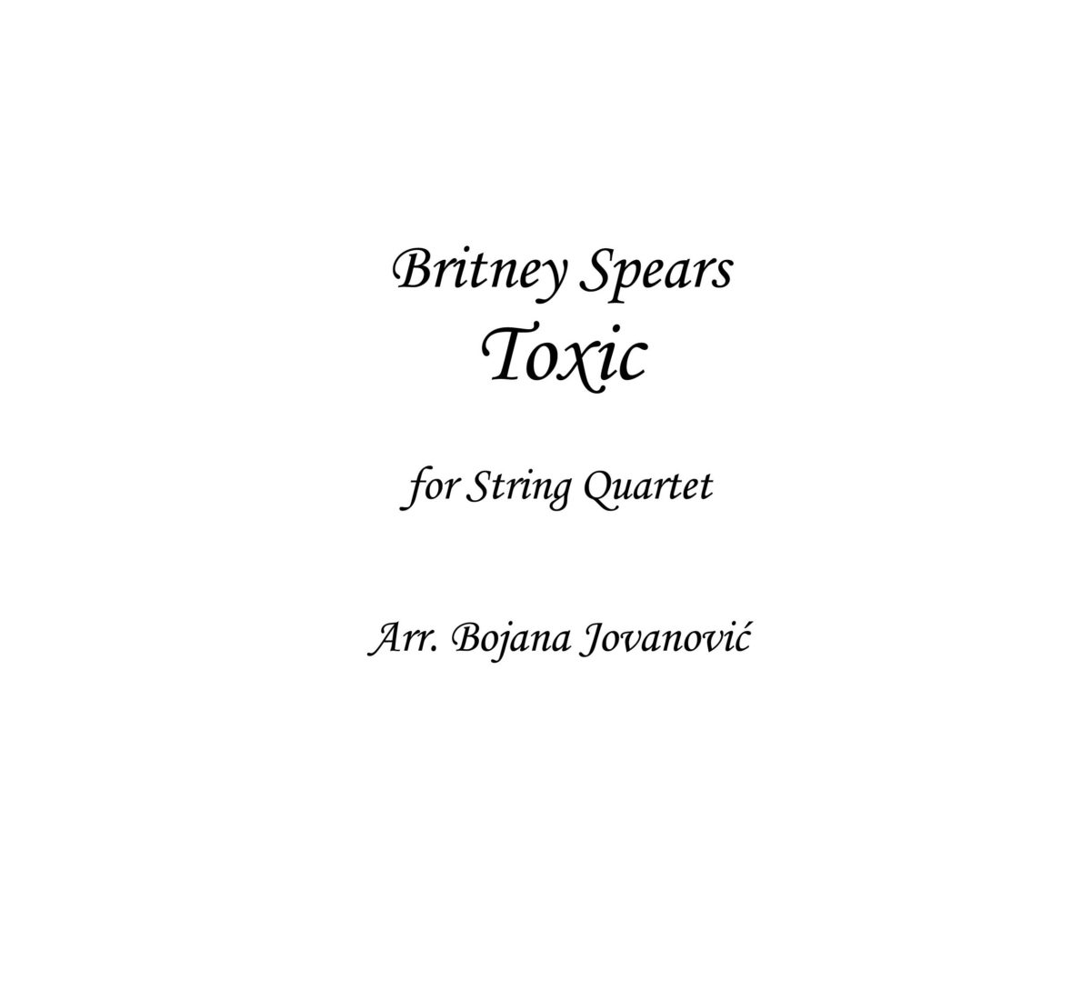 Toxic (Britney Spears) - Sheet Music