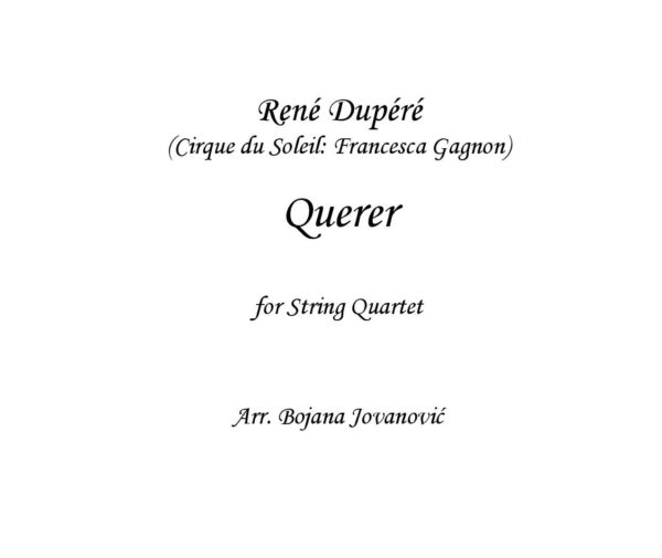 Querer (Francesca Gagnon) - Sheet Music