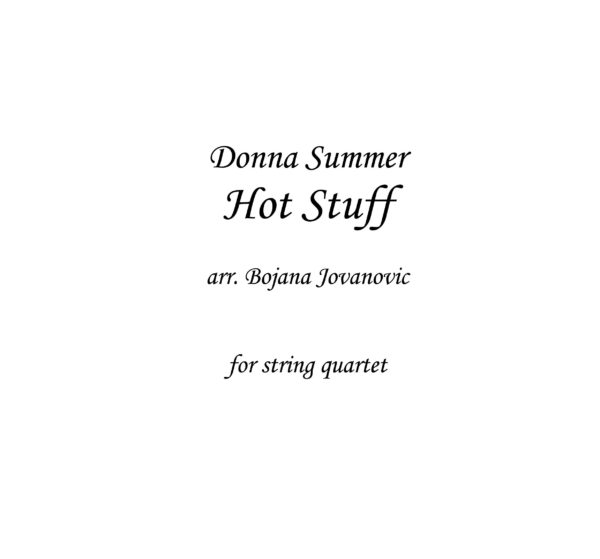 Hot Stuff (Donna Summer) - Sheet Music
