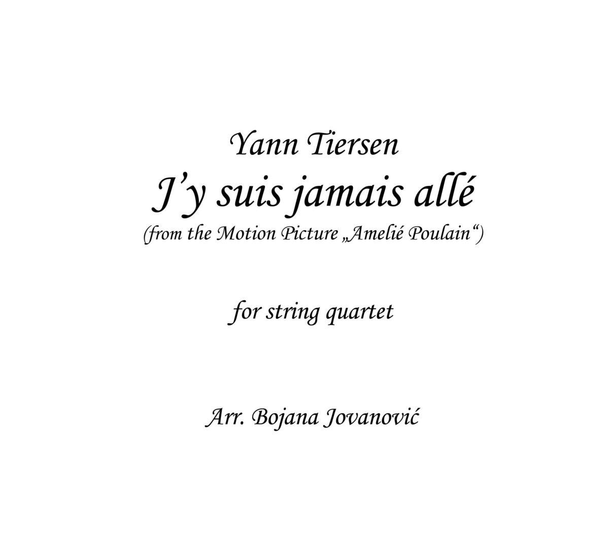 J'y Suis Jamais Alle (Amelie Poulain) - Sheet Music