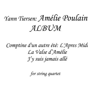 Album Amelie Poulain - Sheet Music