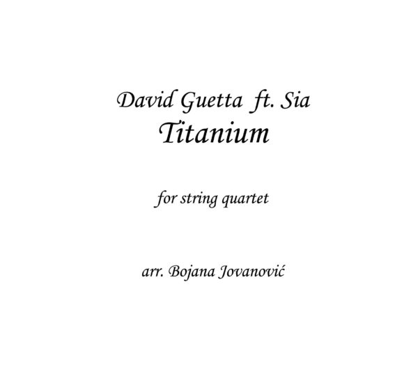 Titanium (David Guetta ft Sia) - Sheet Music