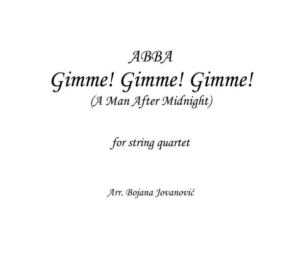 Gimme Gimme Gimme (ABBA) - Sheet Music