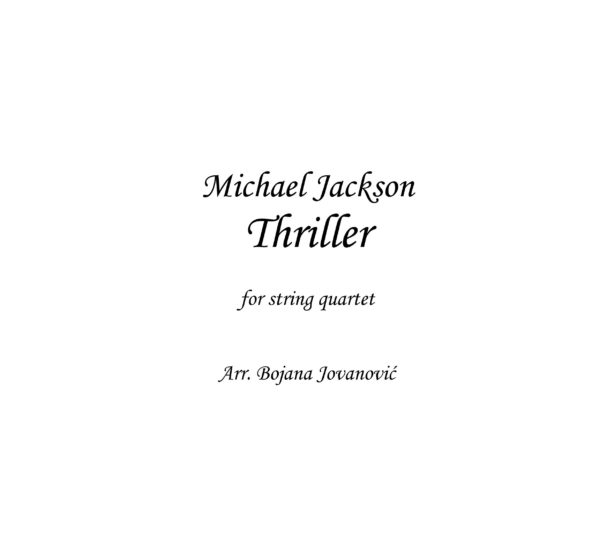 Thriller (Michael Jackson) - Sheet Music