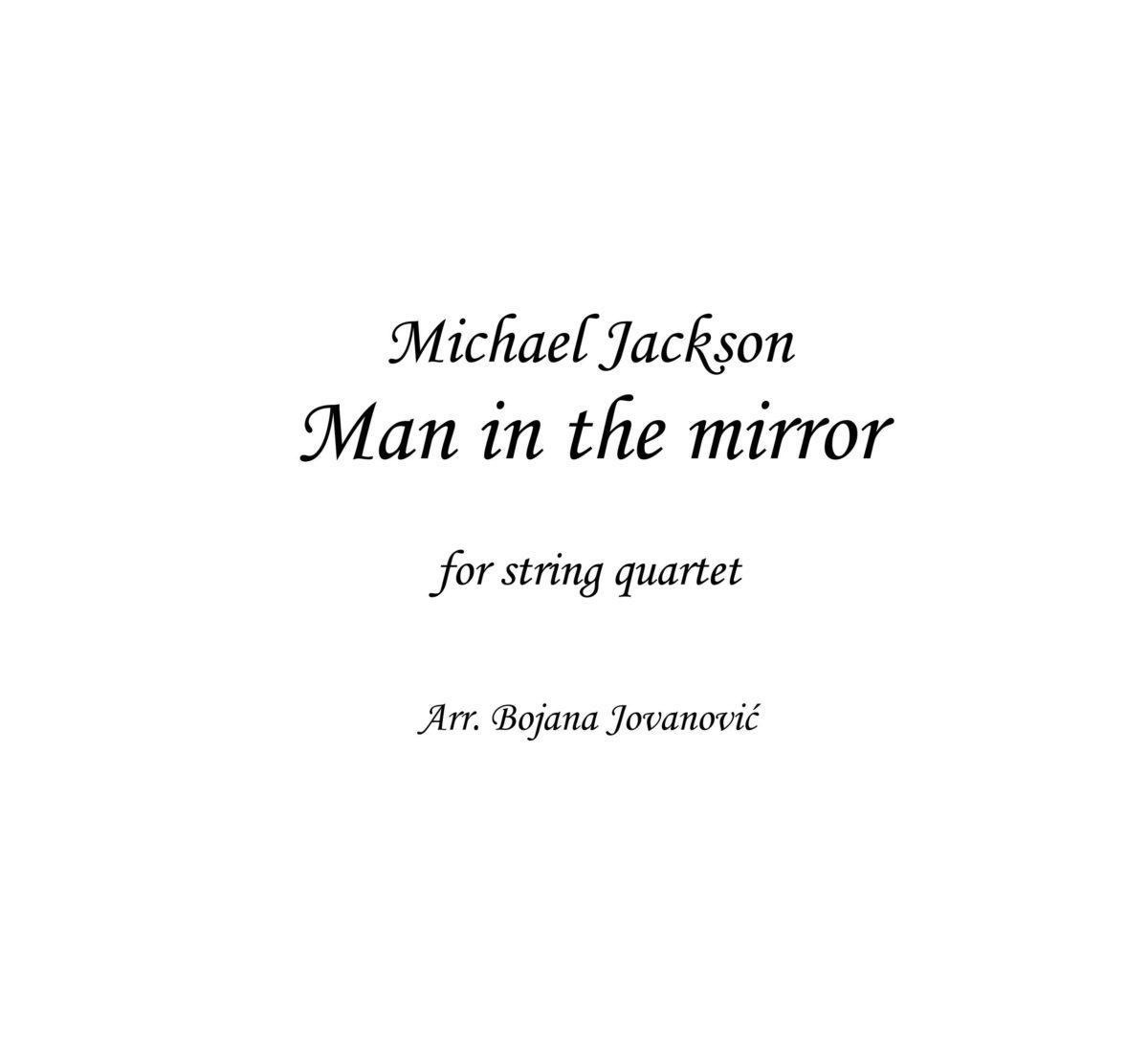 Man in the mirror (Michael Jackson) - Sheet Music