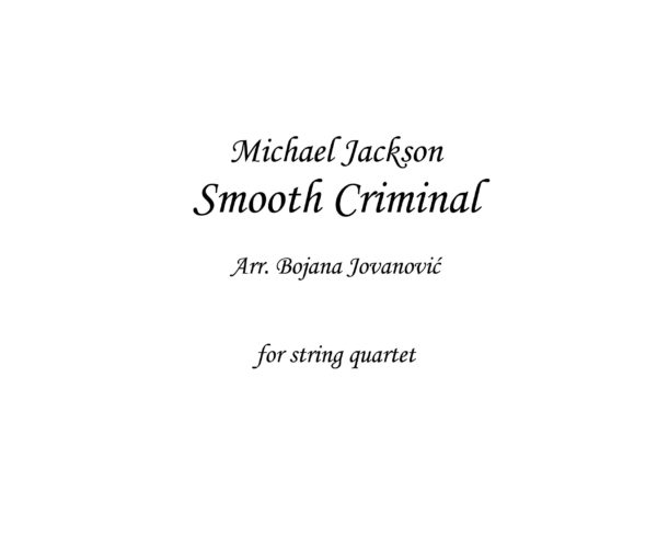 Smooth Criminal (Michael Jackson) - Sheet Music
