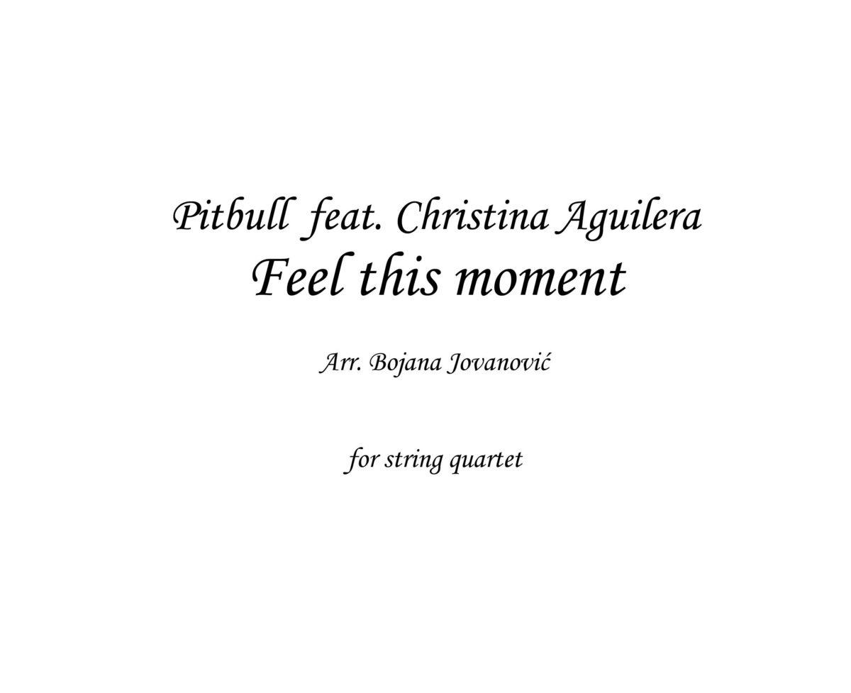 Feel this moment (Pitbull ft C. Aguilera) - Sheet Music