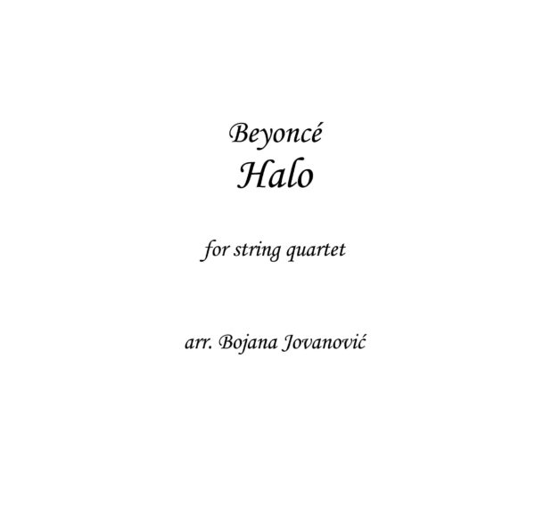 Halo (Beyonce) - Sheet Music