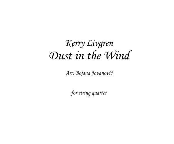 Dust in the wind (Kansas) - Sheet Music