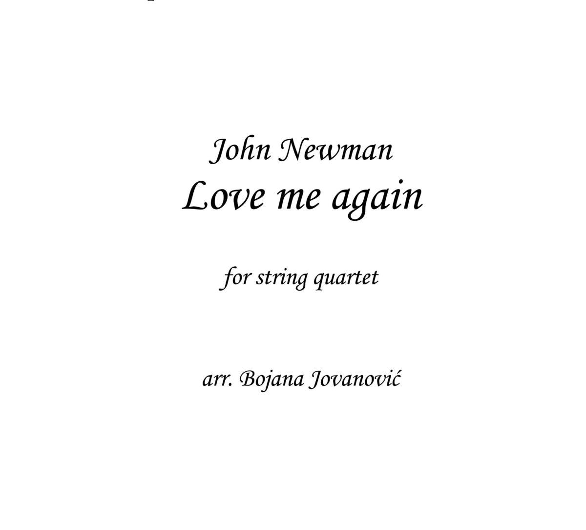 Love me again (John Newman) - Sheet Music