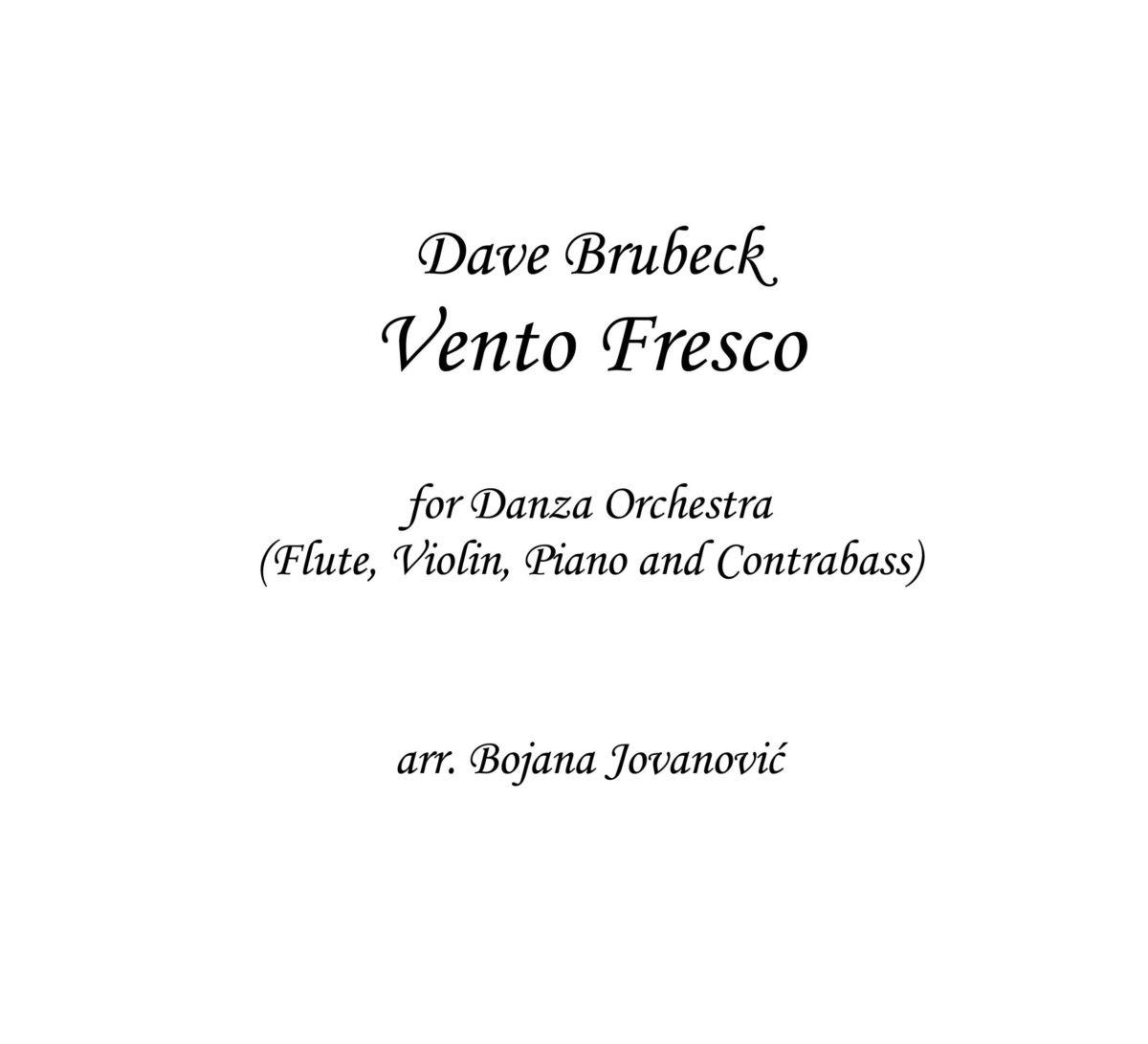 Vento Fresco Music score (Dave Brubeck)