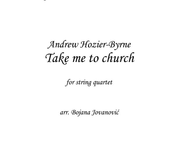 Take me to church (Hozier) - Sheet Music