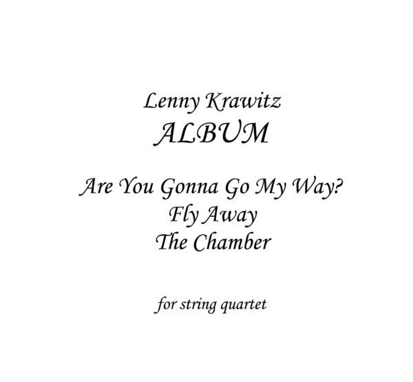 Tribute to Lenny Kravitz - Sheet Music