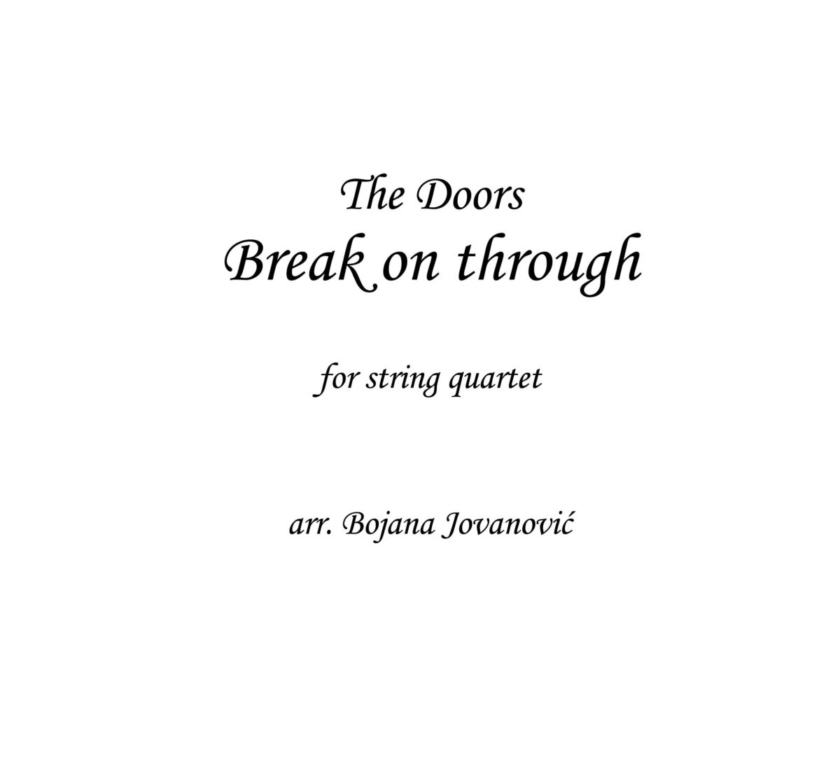 Break on through (The Doors) - Sheet Music