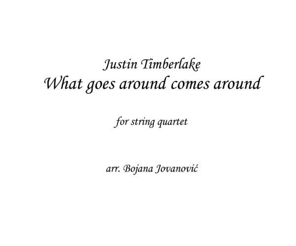 What goes around comes around (Justin Timberlake) - Sheet Music