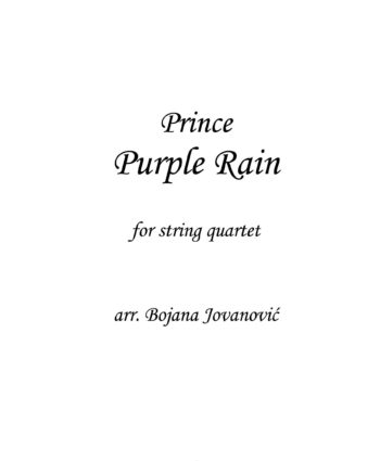 Purple Rain (Prince) - Sheet Music
