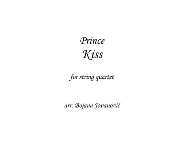 Kiss (Prince) - Music Sheet