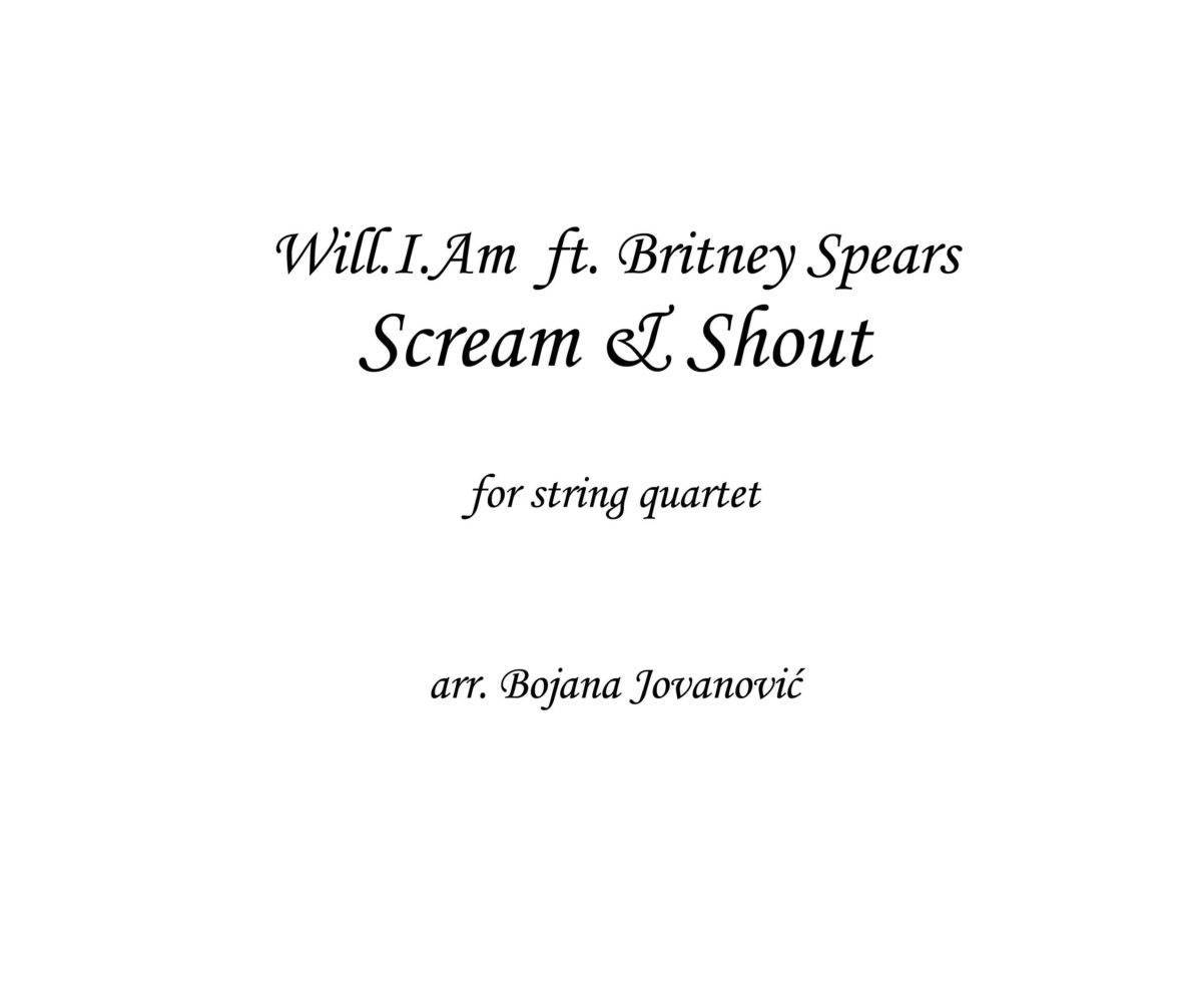 Scream & Shout (Will.I.Am ft Britney Sitney Spears) - Sheet Music