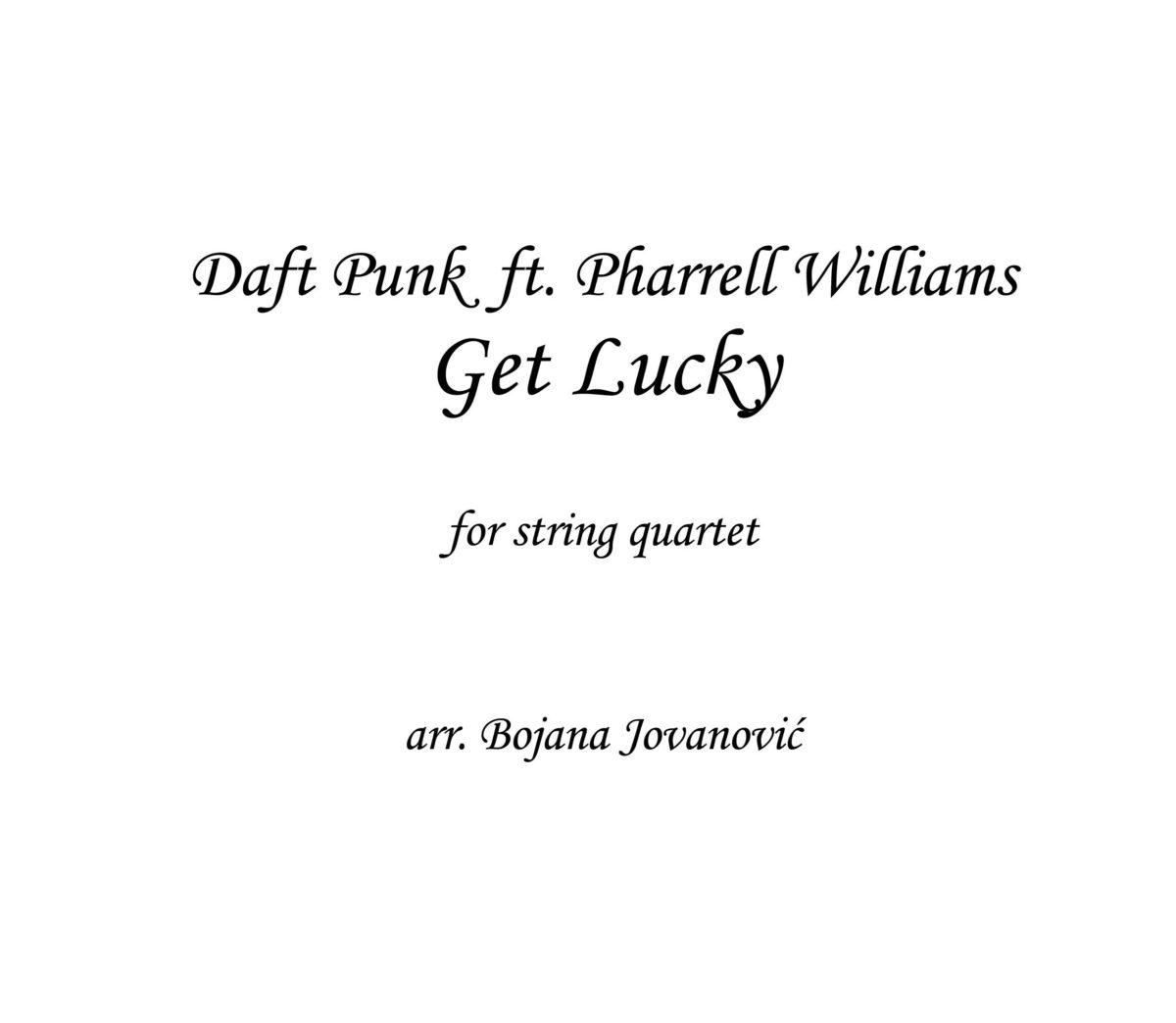 Get Lucky (Daft Punk ft Pharrell Williams) - Sheet Music