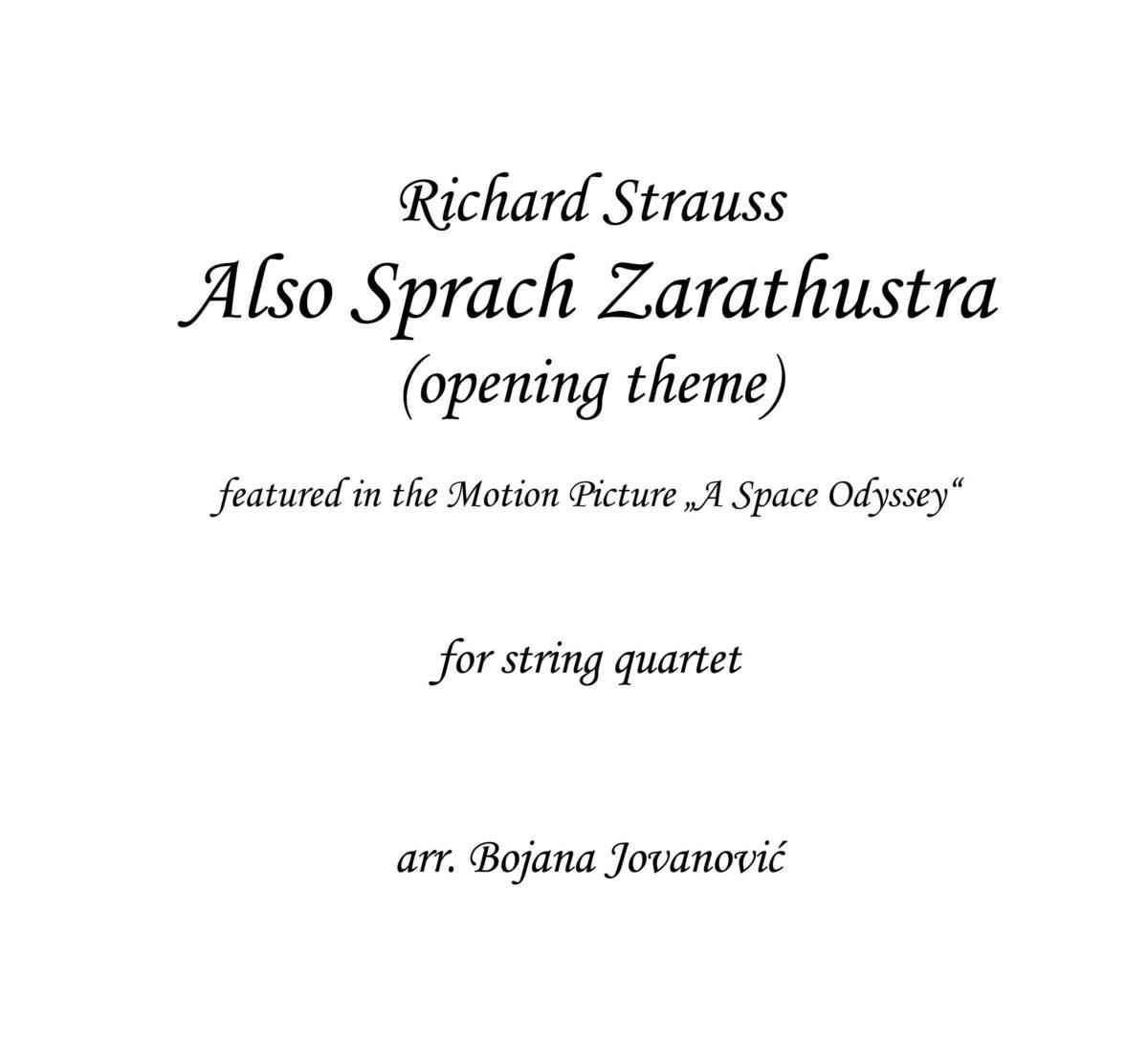 Also Sprach Zarathustra (R.Strauss) - Sheet Music