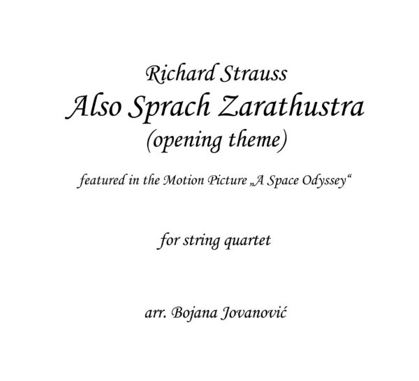 Also Sprach Zarathustra (R.Strauss) - Sheet Music