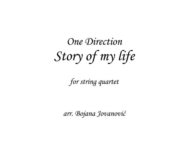 Story of my life (One Direction) - Sheet Music