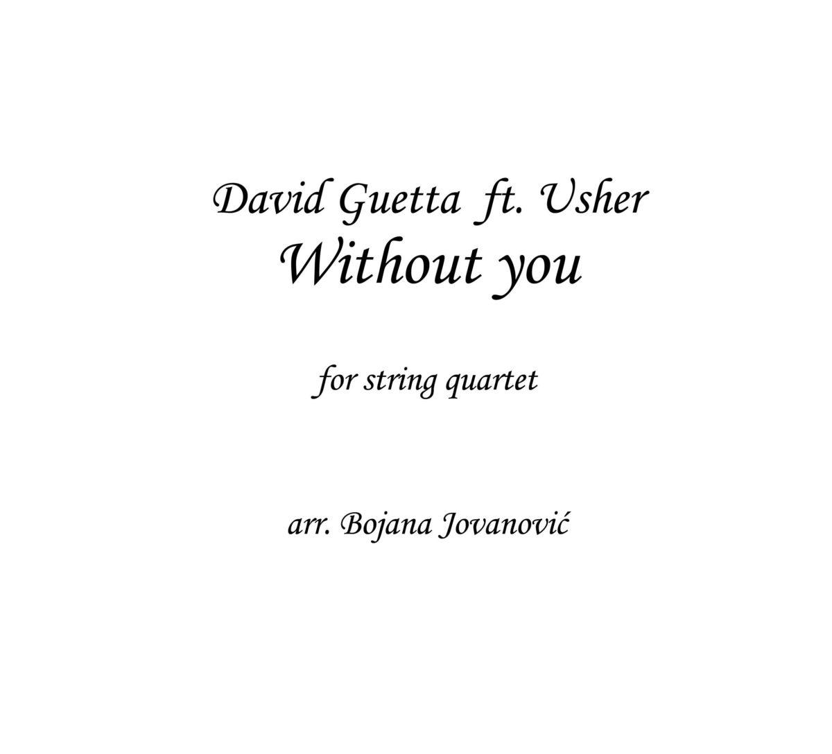 Withou you (David Guetta ft Usher) Sheet Music