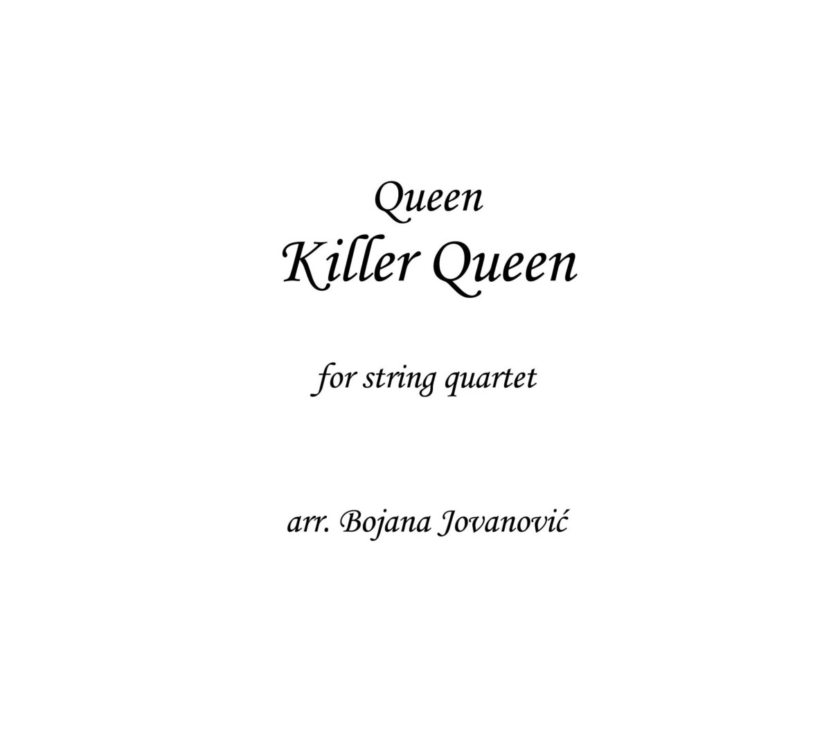 Killer Queen (Queen) - Sheet Music