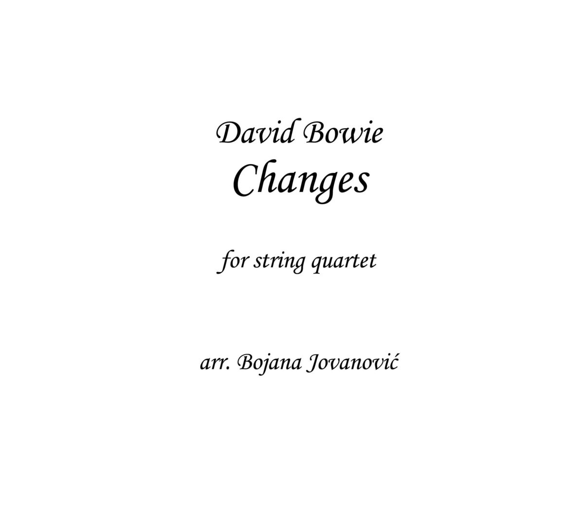 Changes (David Bowie) - Sheet Music