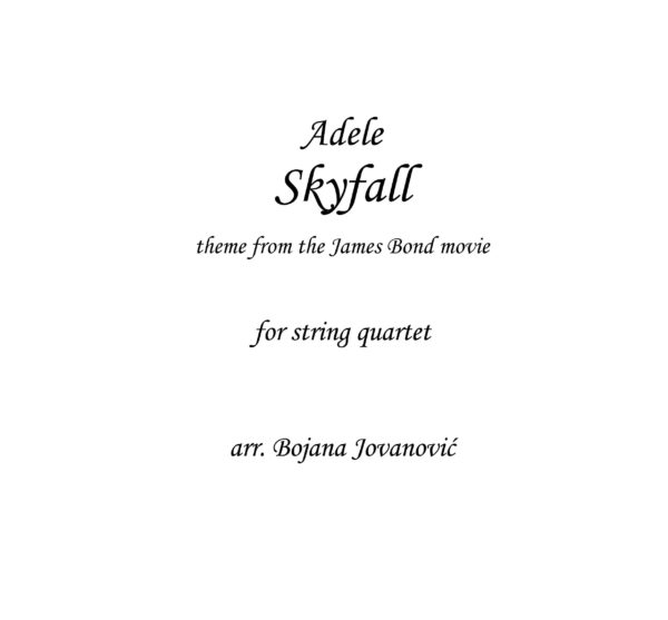 Skyfall (Adele) - Sheet Music