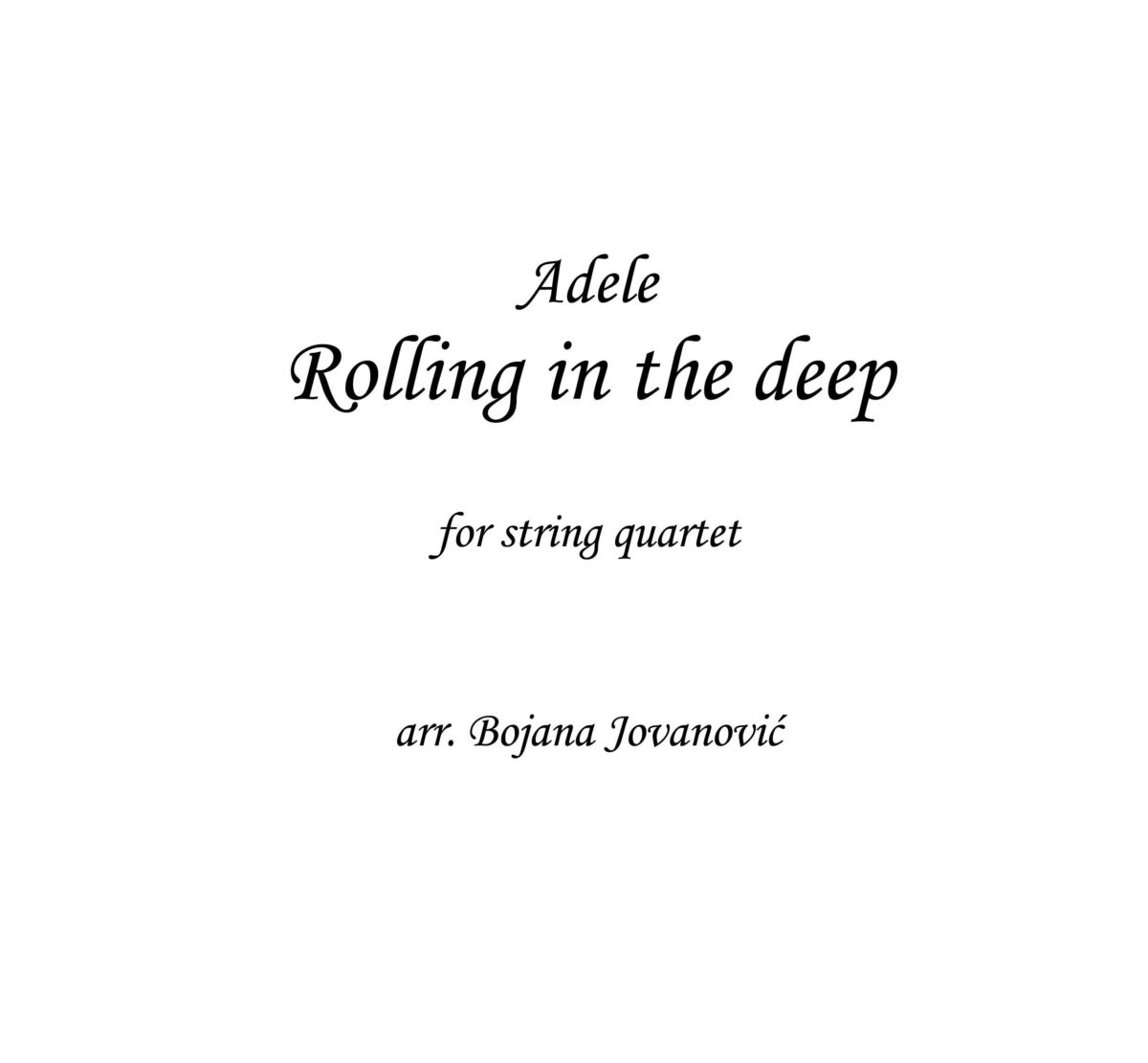 Rolliing in the deep (Adele) - Sheet Music