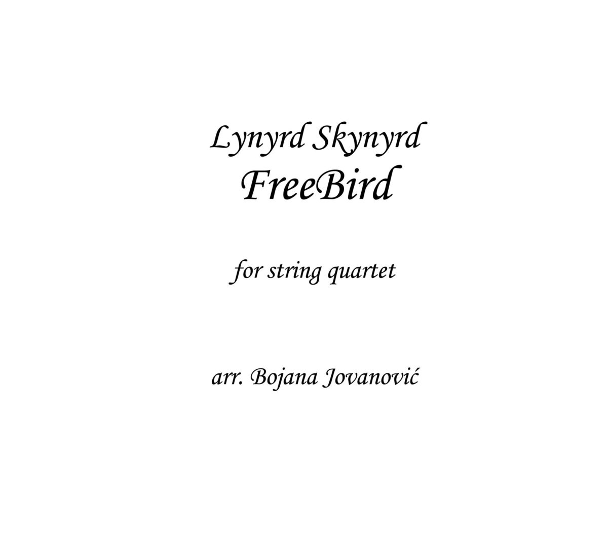 Freebird (Led Zeppelin) - Sheet Music