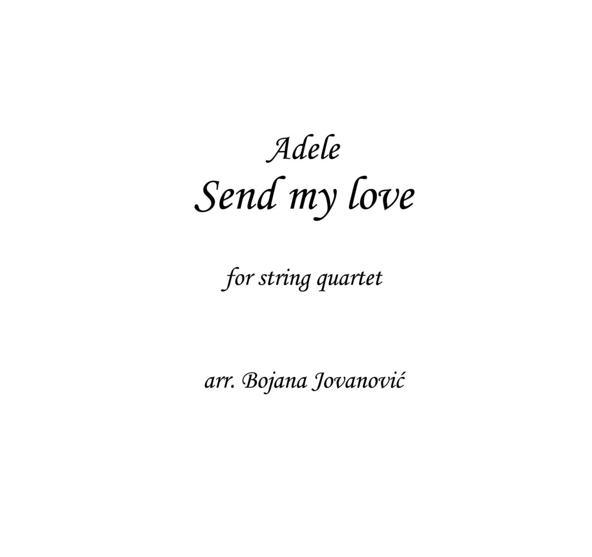 Send my love (Adele) - Sheet Music