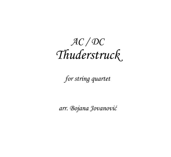 Thunderstruck (AC/DC) - Sheet Music