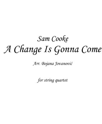 A change is gonna come (Sam Cooke) - Sheet Music