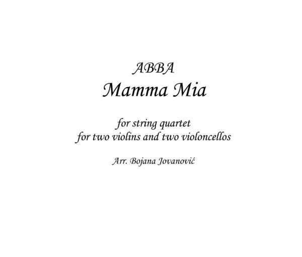 Mamma mia (ABBA) - Sheet Music