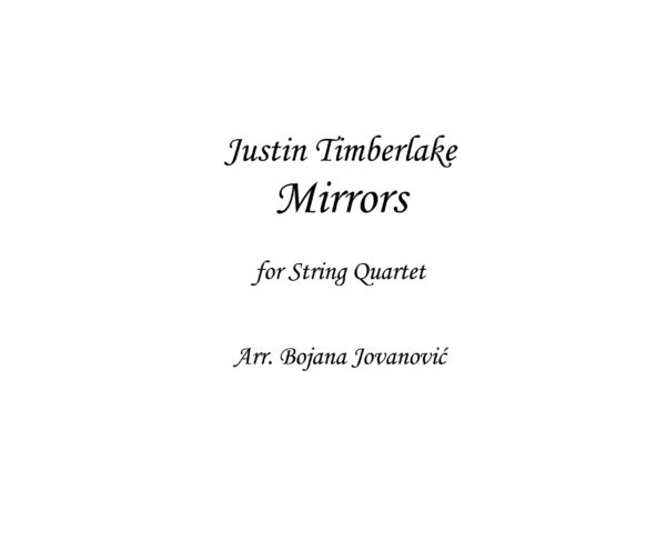 Mirrors (Justin Timberlake) - Sheet Music