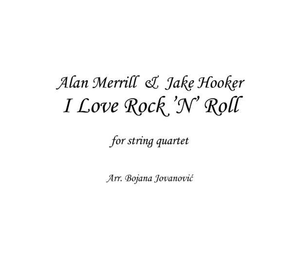 I love Rock 'n' Roll (Joan Jett) - Sheet Music