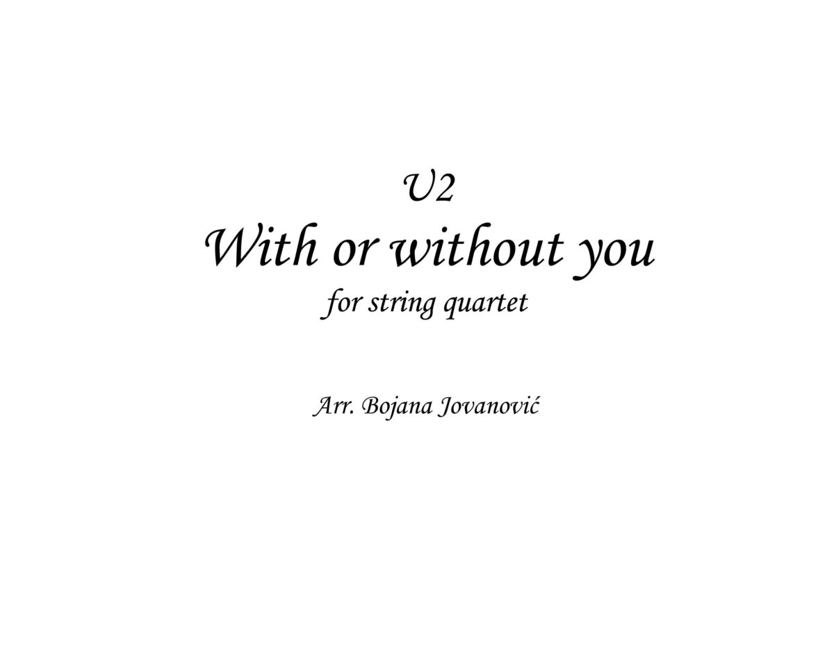 With or without you (U2) - Sheet Music