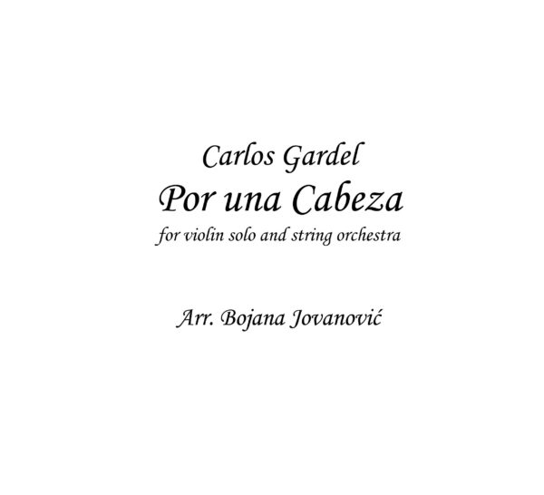 Por una cabeza (Carlos Gardel) - Sheet Music