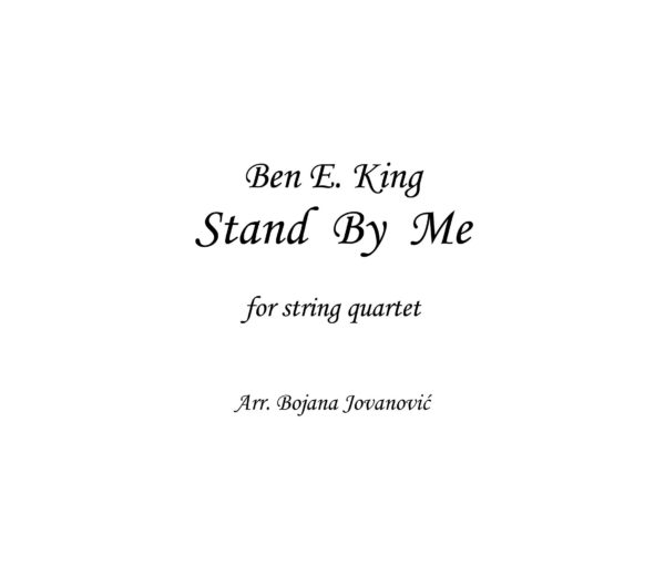 Stand by me (Ben E King) - Sheet Music