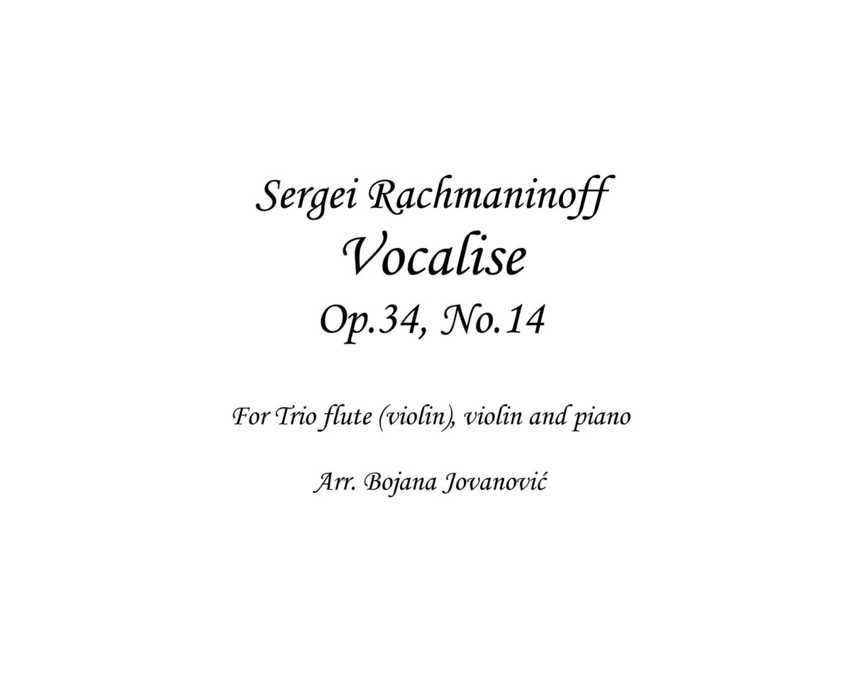 VOCALISE Op. 34, No. 14 (S. Rachmaninoff) - Sheet Music