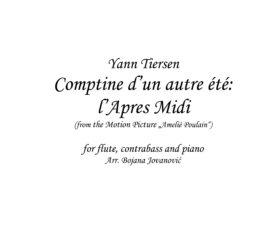 L'Apres Midi (Amelie Poulain) Trio - Sheet Music